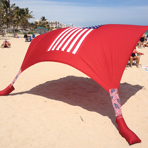 American Flag Beach Shade