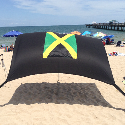 Jamaican Flag Beach Shade